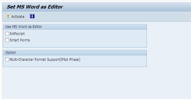 SAP Editor