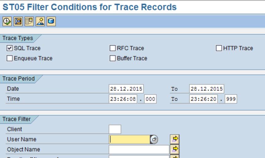 SAP Filter Condition
