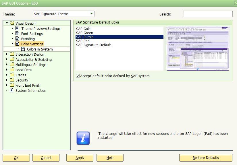 SAP Client Help