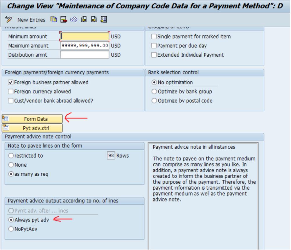 SAP Advice Remittance