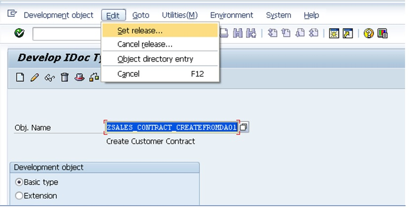 Creating Business Object SAP