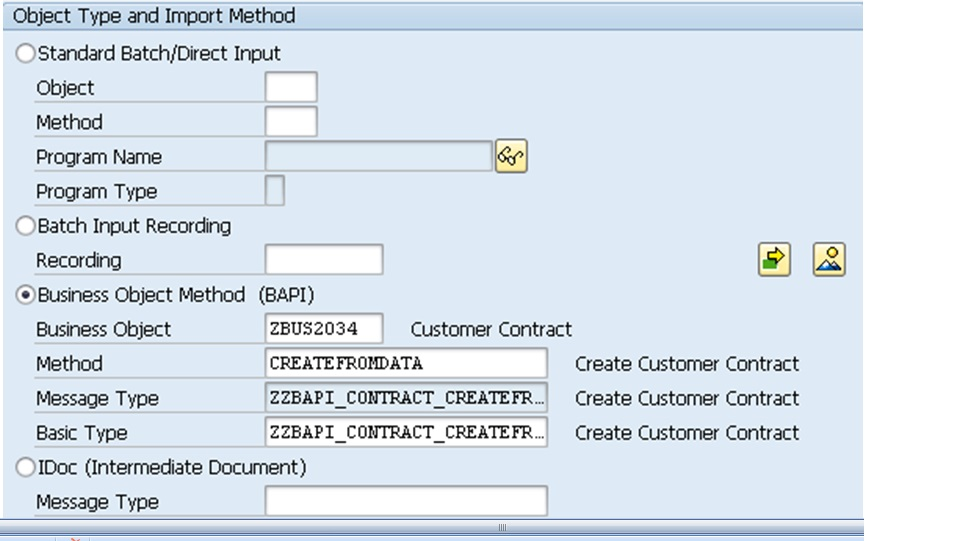 Creating Business Objects SAP