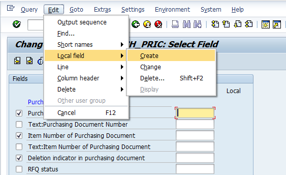 SAP Local Fields Tips