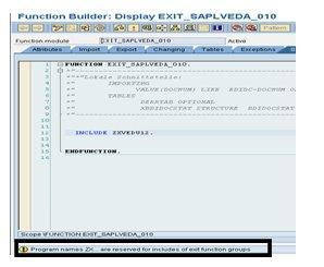 How To Implement User Exit In SAP