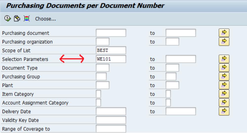 SAP Selection Parameters