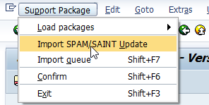 Importing SPAM/SAINT Update