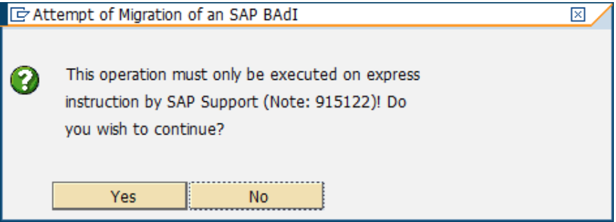 SAP BADI Classic To New