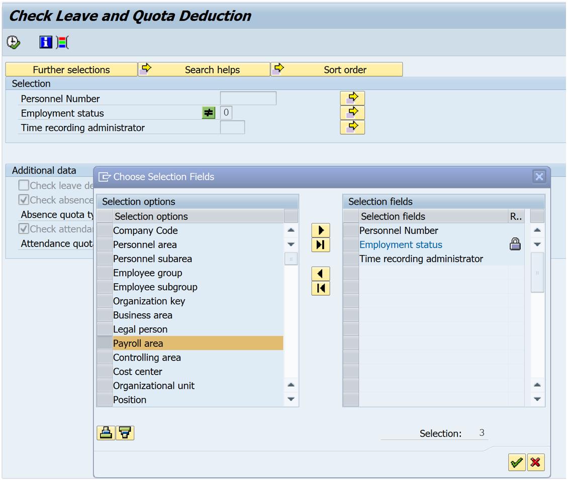 using program pt bpc10 and fixing grouping issues for quotas