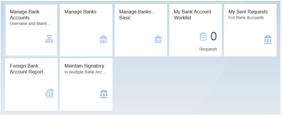 Figure 22 Examples of a Few Bank Management Apps in Fiori