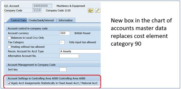 Figure 7 Statistical Postings Check Box in GL Account Master Data