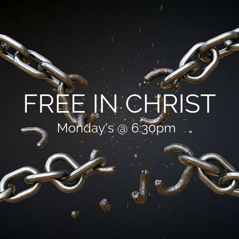 Recovery Ministry - Monday's  6:30PM   Free in Christ is MPC's ministry to those bound by addiction. If you have an addiction you're struggling with, whether it's drug related, pornography, food or any other addictive lifestyle, we are here to help you claim victory over it through this 12 step program and the resurrecting power of Jesus Christ!