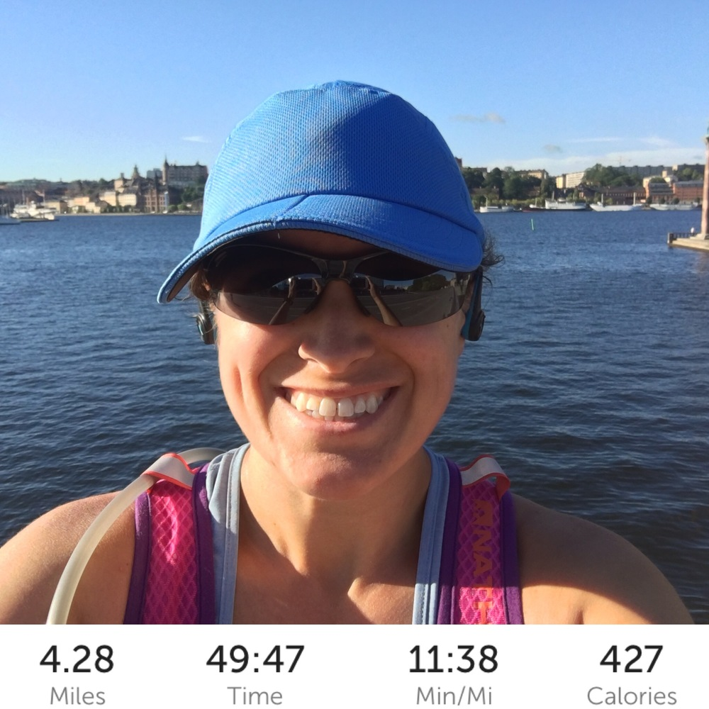 Short run in Stockholm