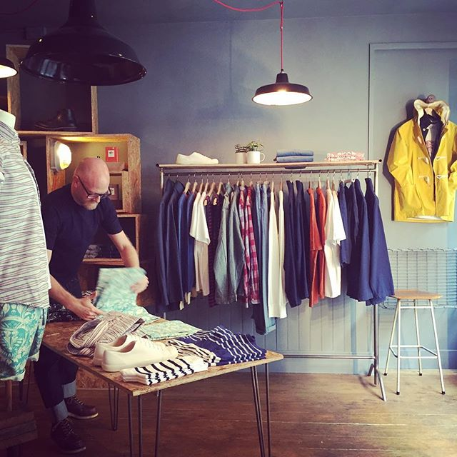 Getting involved in an @assemblyshop re merch. Store looks amazing as ever #retail #independent #frome #branding @gloverall @peregrinclothing @armorluxofficial