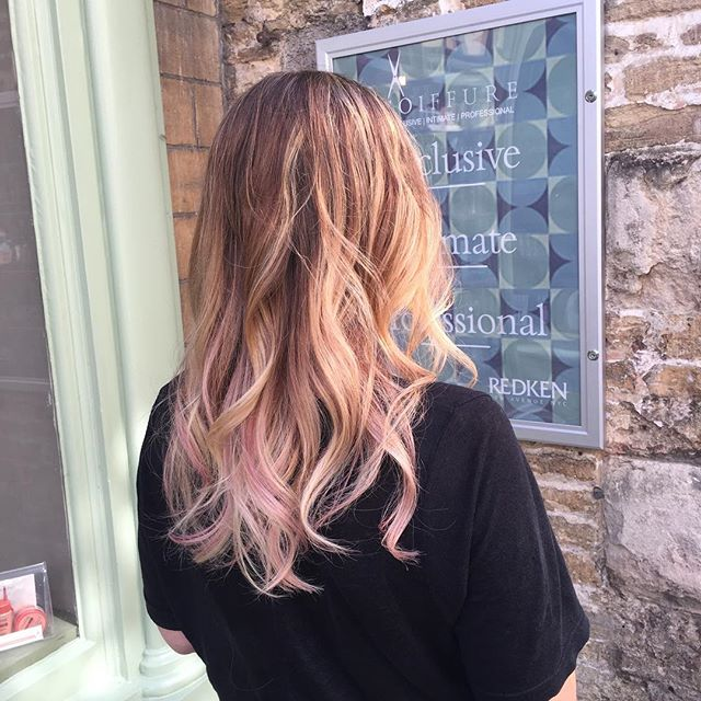 Incredible beachy pink balayage by the super talented Cassie @coiffurehairdressing! Thanks a million, I'm thrilled!! Xx #nofilter #hairdresser #frome #excellence