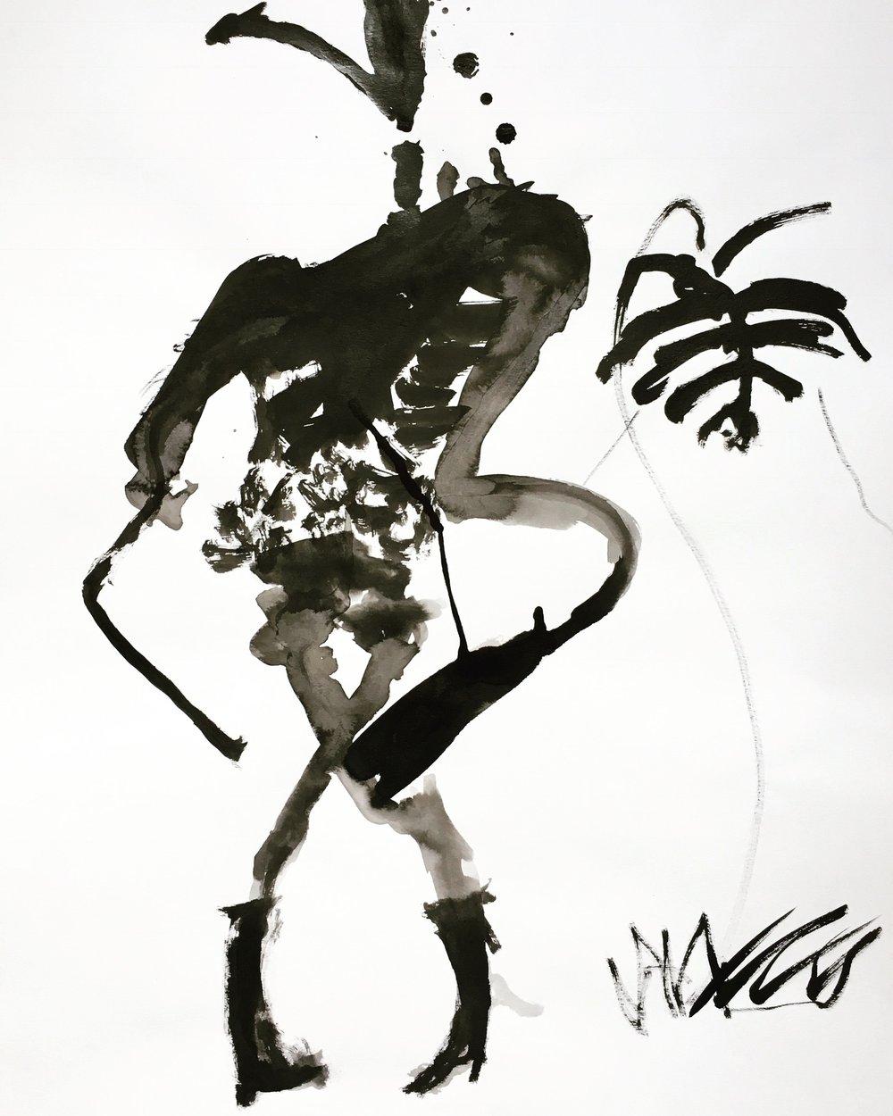 Le petit monstre à la plante    ArtGraphico  $1850 Contact Ousmane
