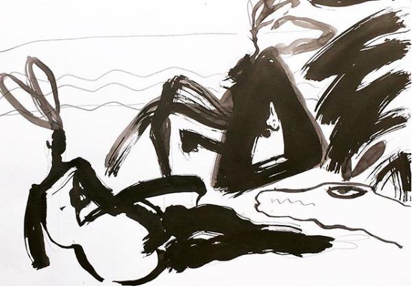 Dîner au bord de l'eau   ArtGraphico  $1850 Contact Ousmane