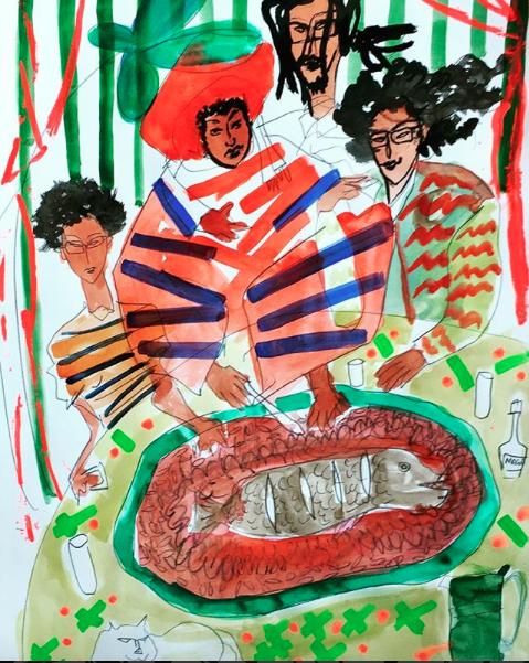Affaire de famille/ family business    ArtGraphico  $1850 Contact Ousmane
