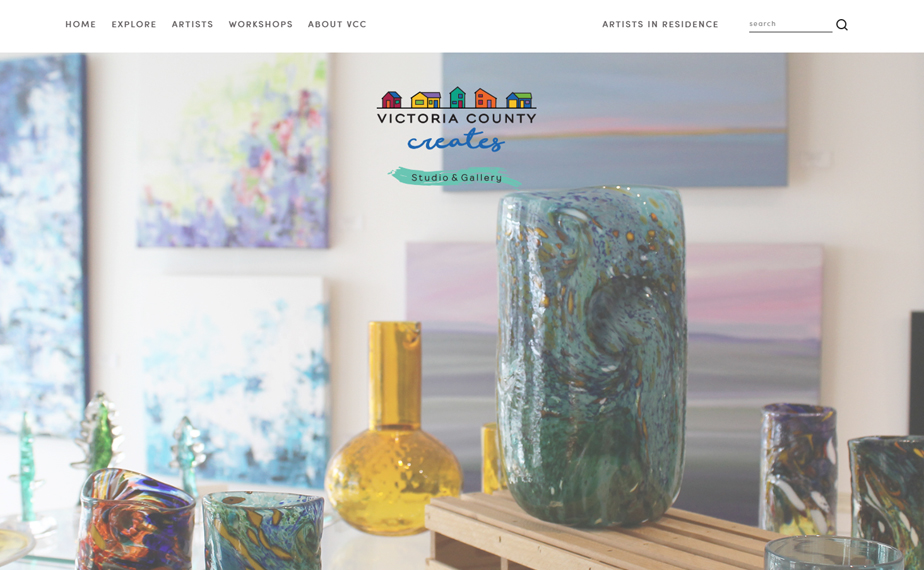 Website for Victoria County Creates in Baddeck