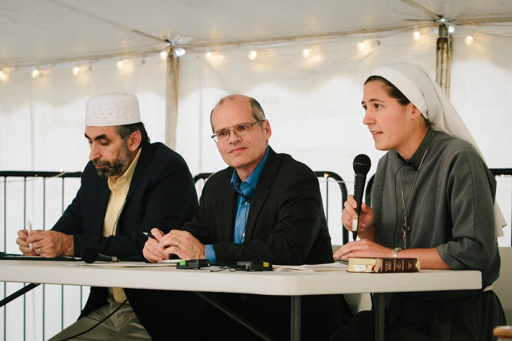 Imam Bashar Arafat, Mark Danner, and Sr. Agnes Thérèse Davis, TOR: The Panel on St. Francis' Meeting with Sultan Malik al-Kamil