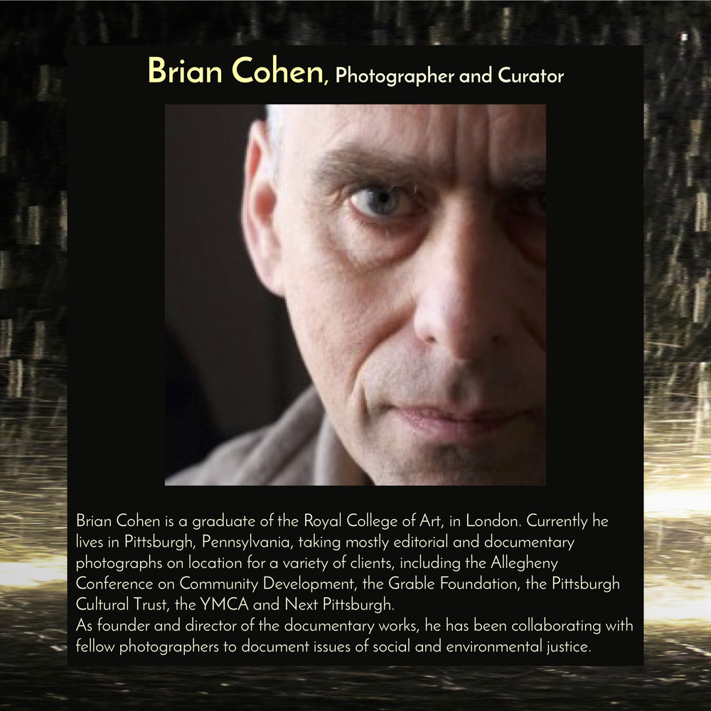 """Brian Cohen ,  Photographer and Curator ,will speak at  5:30pm on Friday, Sept 28, 2018, in the Trust Arts Center (805 Liberty Ave, Pittsburgh) , to introduce the Festival of Friendship's exhibit, """"Out of Many – Stories of Migration."""""""