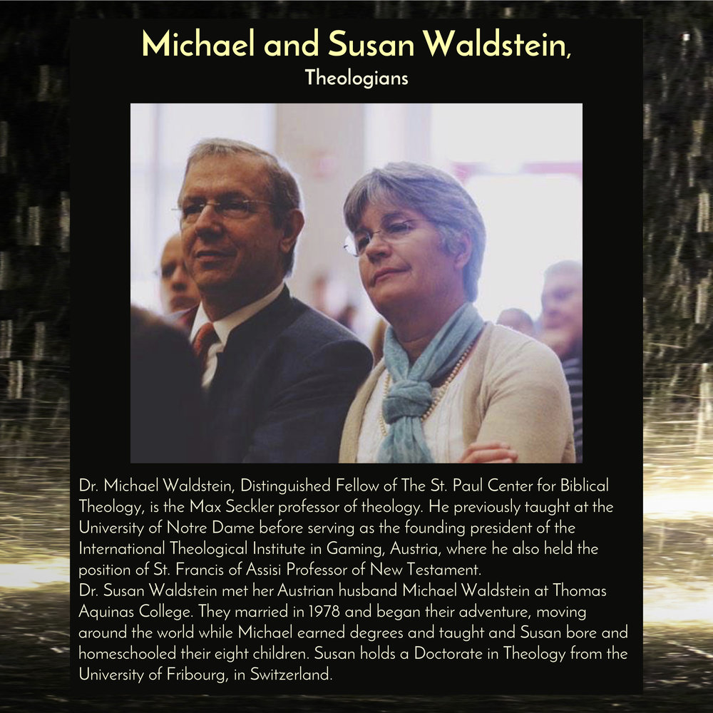 """Dr. Michael Waldstein and Dr. Susan Waldstein , Theologians, will give the keynote address for the Festival of Friendship at  6:30pm on Friday, Sept 28, 2018, in the Trust Arts Center (805 Liberty Ave, Pittsburgh) , to introduce the Festival's theme, """"Only Wonder Knows."""""""