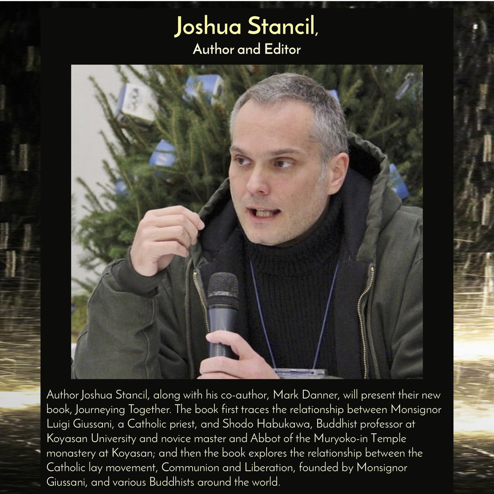 Joshua Stancil , Author and Editor at Deep River Media, along with his co-author Mark Danner, will present his book,  Journeying Together , on Buddhist/Catholic dialogue, at  10am on Saturday, Sept 29, 2018 in the Trust Arts Center (805 Liberty Ave, Pittsburgh) .