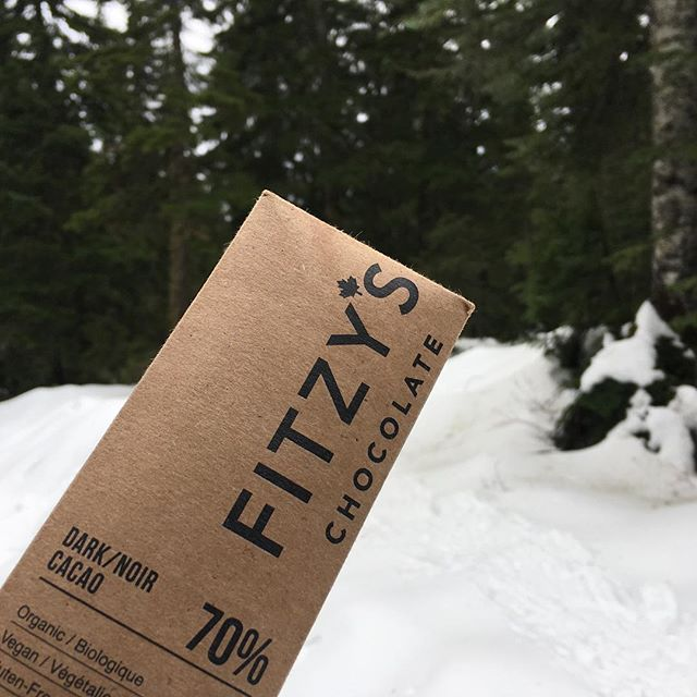 Nothing like Salted Caramel in the snow!  This bar was the perfect snack fir me and my kids snowshoeing Cypress #eatmorechocolate