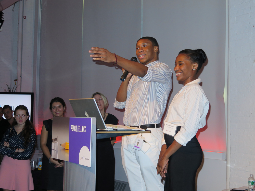 My PENCIL Fellow and I sharing some highlights of our internship at Ogilvy & Mather during the 2014 PENCIL Fellows Culminating Event.
