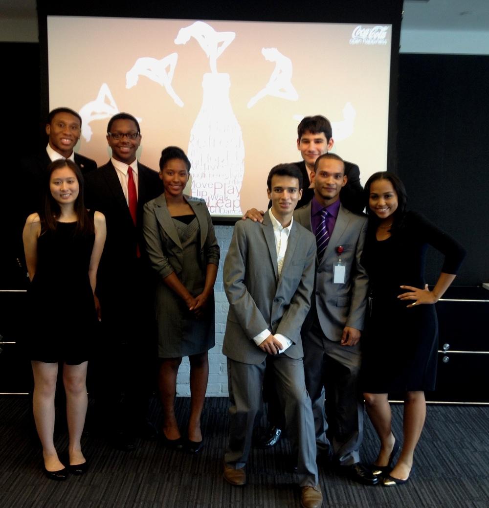 My peer summer interns and I after delivering a presentation to the Coca Cola client's representatives at Ogilvy & Mather.
