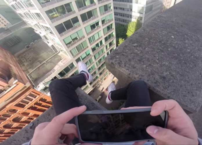 YouTuber Marshall Hall Channels Spiderman In 'Chill Climbs In Portland' Video