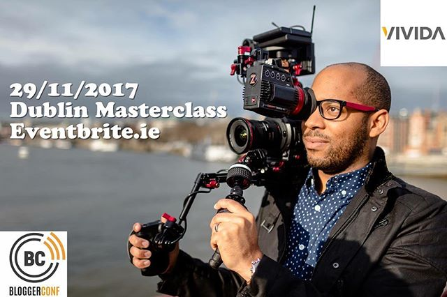 SIMEON QUARRIE of @teamvivida Is BACK in DUBLIN Wednesday 29th November for two Video masterclasses! Choose 10.00-13.00 or 17.30-20.30! Early bird tickets €60 plus booking fee on sale on Eventbrite! Limited spaces available. #bloggerconf #contentcreators #video #visialstorytelling #youtube #youtuber #irishblogger #PR #media #marketing #contentmarketing #dublin #dublinireland #videography #video #irishyoutuber