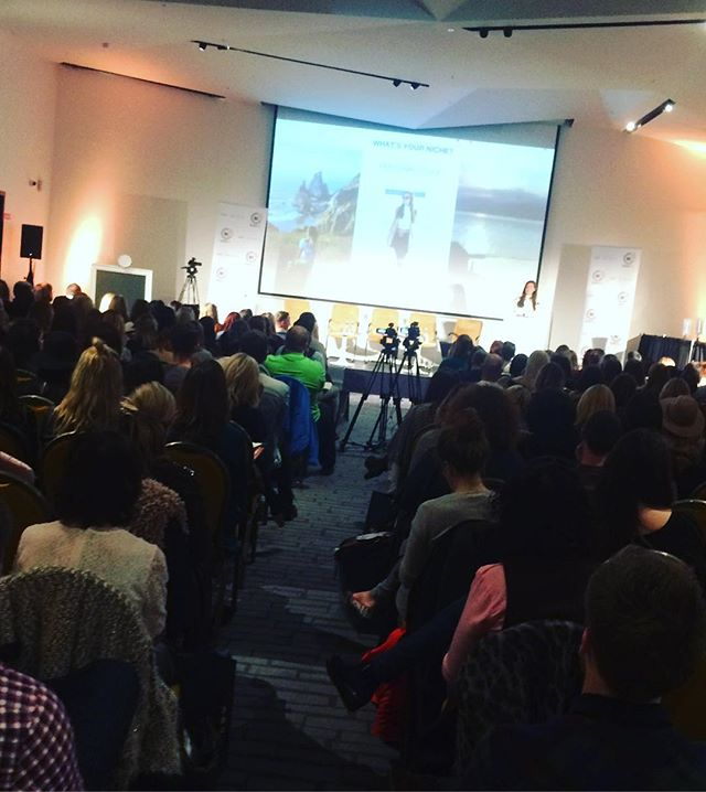 @anouskapb speaking at our November 2016 #bloggerconf in @themarkerhotel