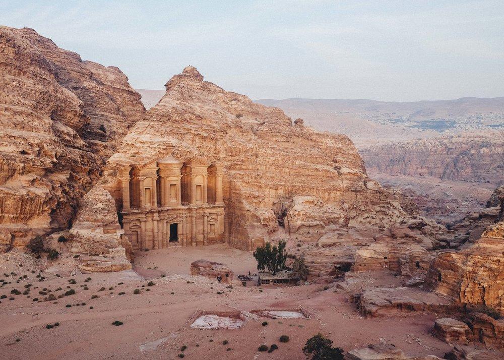 Monastery-al-deir-view-Petra-Jordan