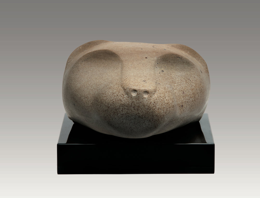Leopard Head (sandstone) 6 x 8 x 9 inches
