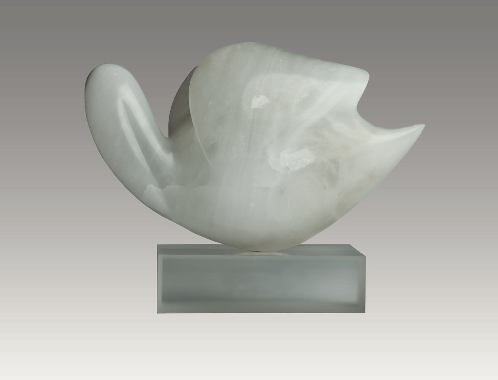 Sleeping Swan (alabaster) 7 x 12 x 5 inches