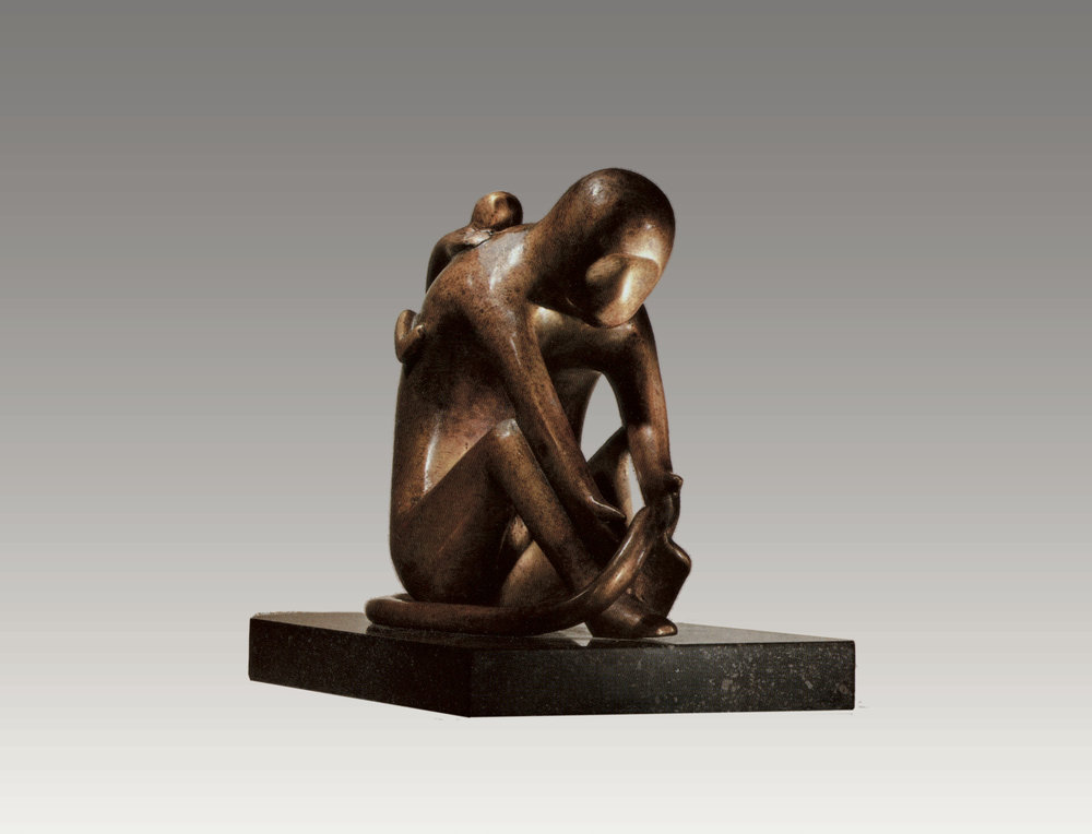 Monkeys (bronze) 9 x 9 x 6 inches Edition of 6