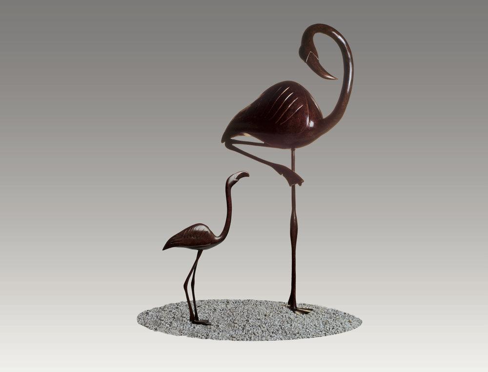 Young Flamingo 33x18x8 Br Ed9 Flamingo 57x18x12 Br Ed6.jpg