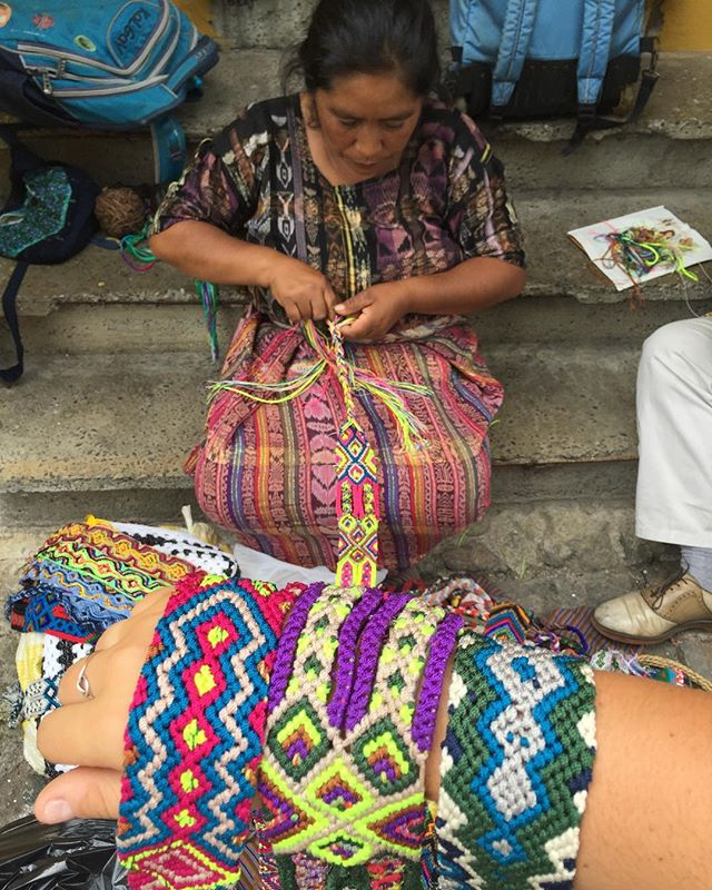 Maria takes friendship bracelets to the next level... and we plan to use them for just that. Stay tuned. // #hazlohandmade #hazlogoes . . . #atlanta #handmade #fashion #travel #handbags #handmade #perhapsyouneedalittleguatemala #guatemala #socialgood