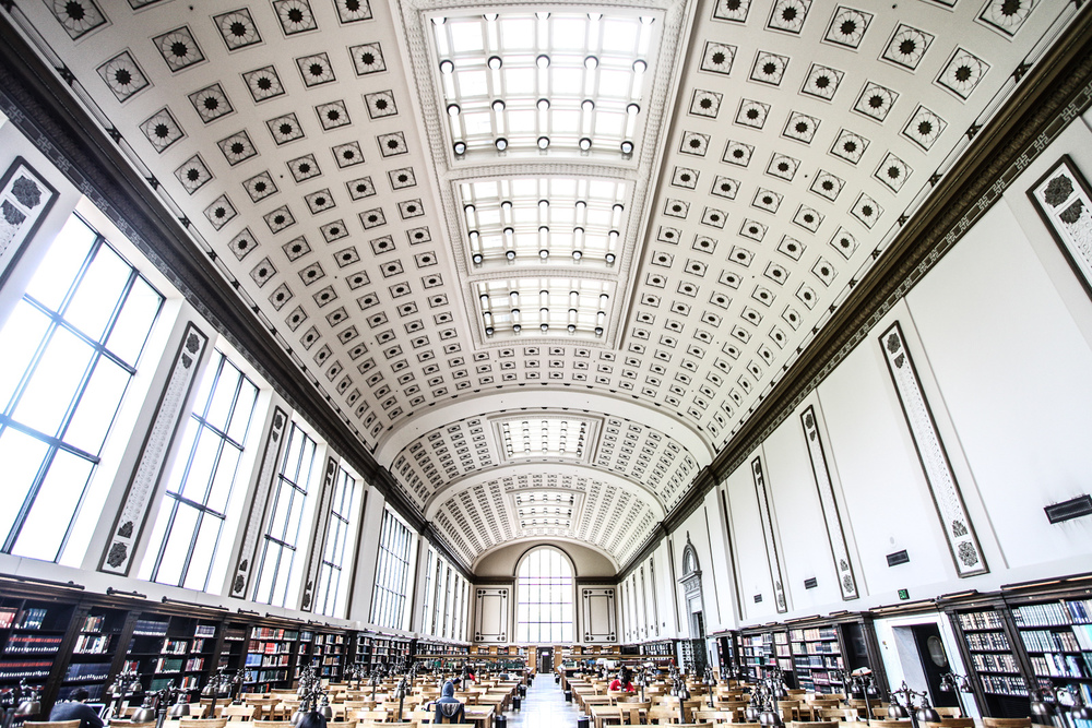 The colossal Doe Reading Room.  Sharat Ganapat i.