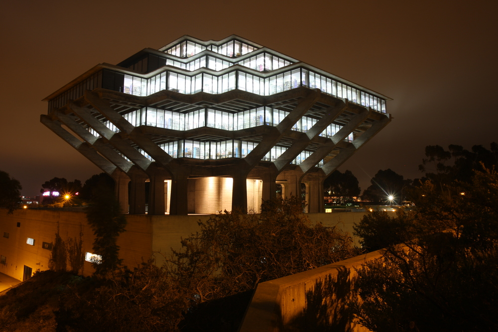 The majestic UCSD library.   Nathan Rupert