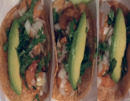 Vaqueras shrimp tacos. You need to make this part of your rotation.
