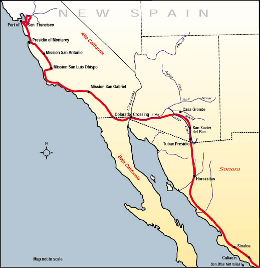 Ho for California! Historic Trails — Californist California Mission Trail Map on