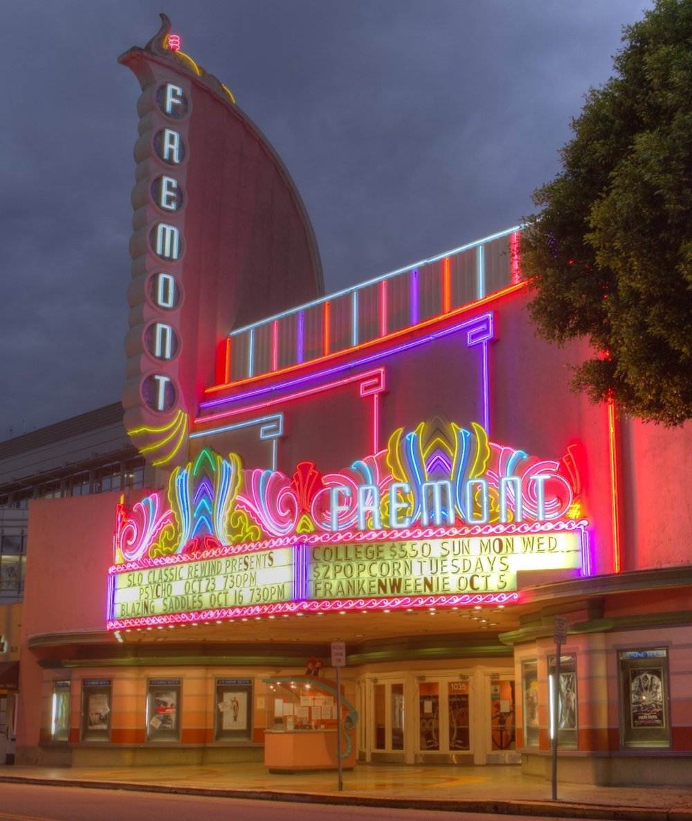 The Fremont Theatre.  Sandy/Chuck Harris