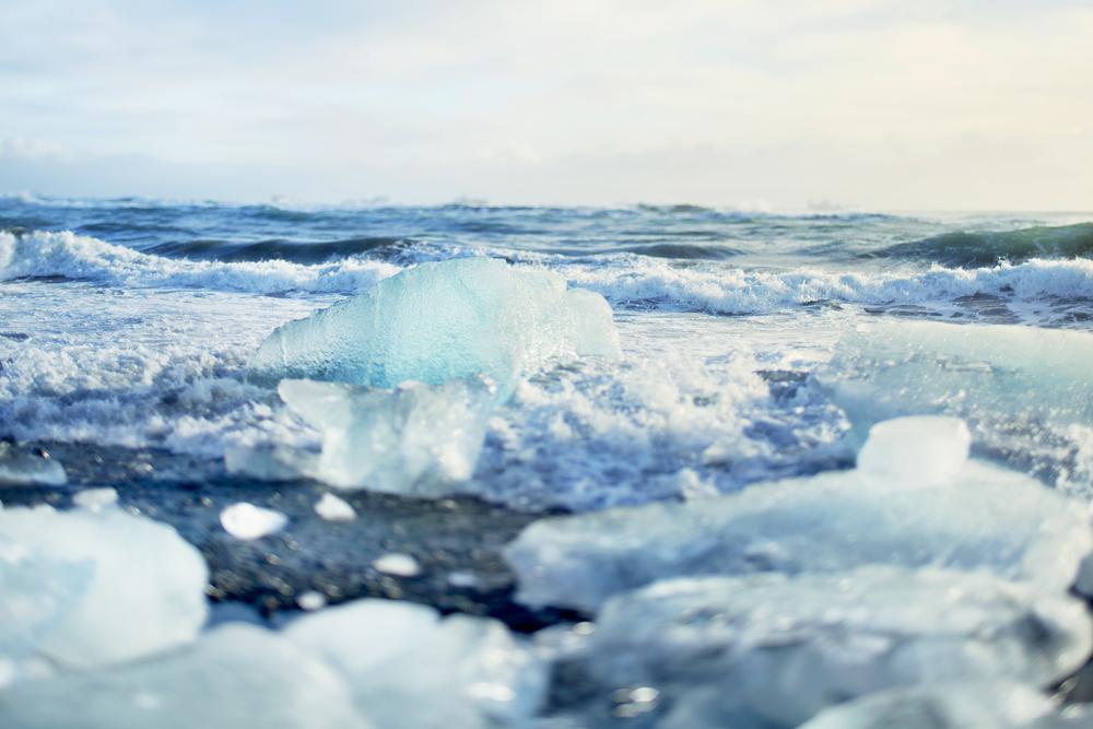 Coastal Icebergs arctic ocean