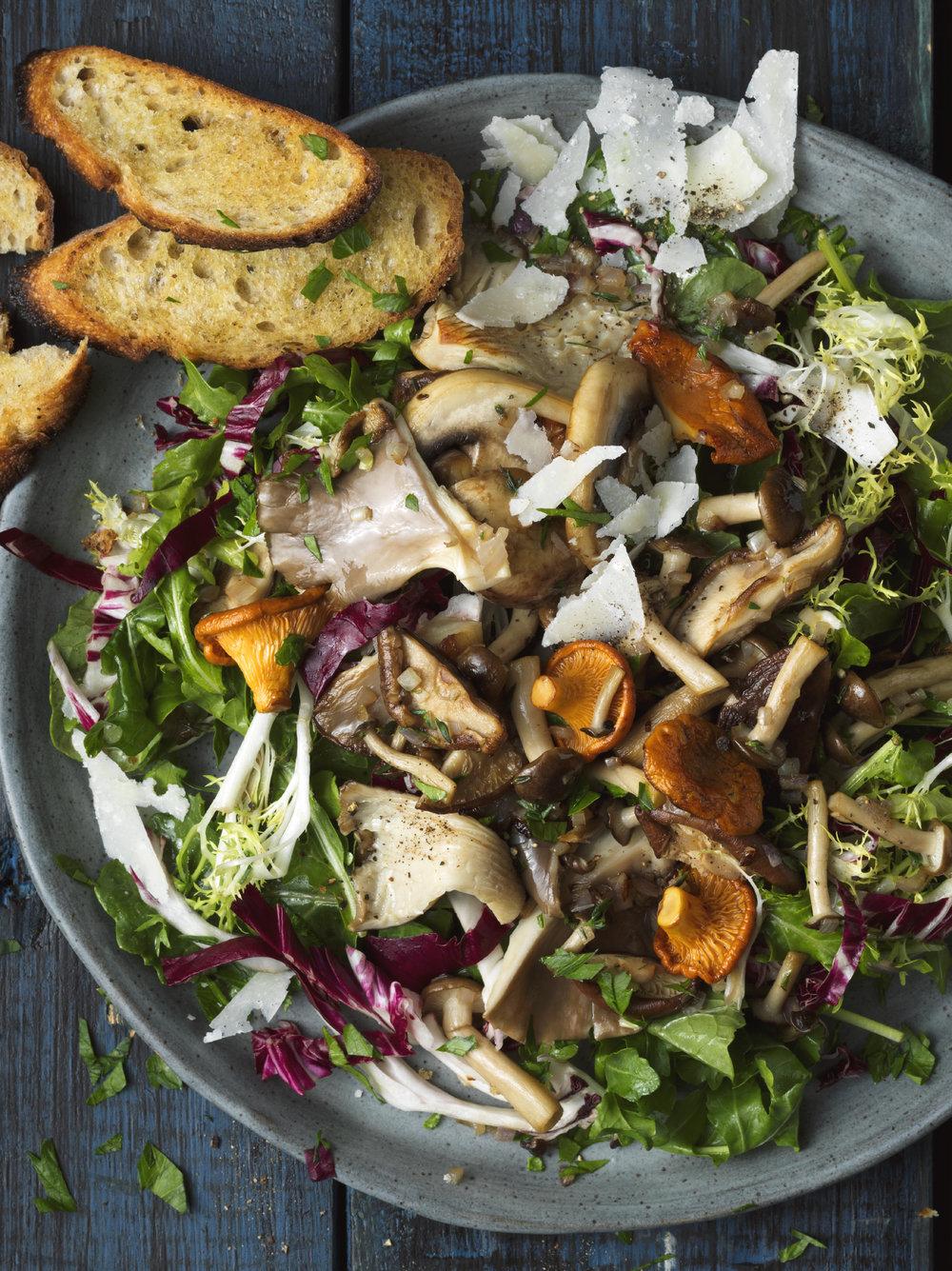 Fungi salad plate editorial toronto