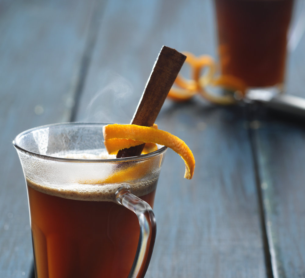 warm drinks cider editorial photography