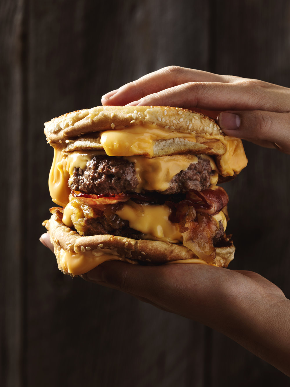 extreme double patty burger cheese food