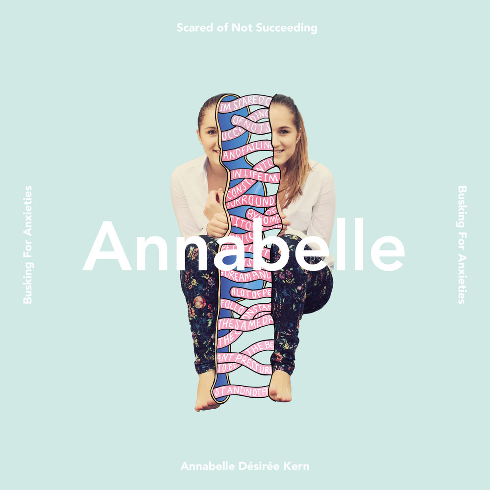 The Single artwork I created for the song I made for one of the participants Annabelle Kern.