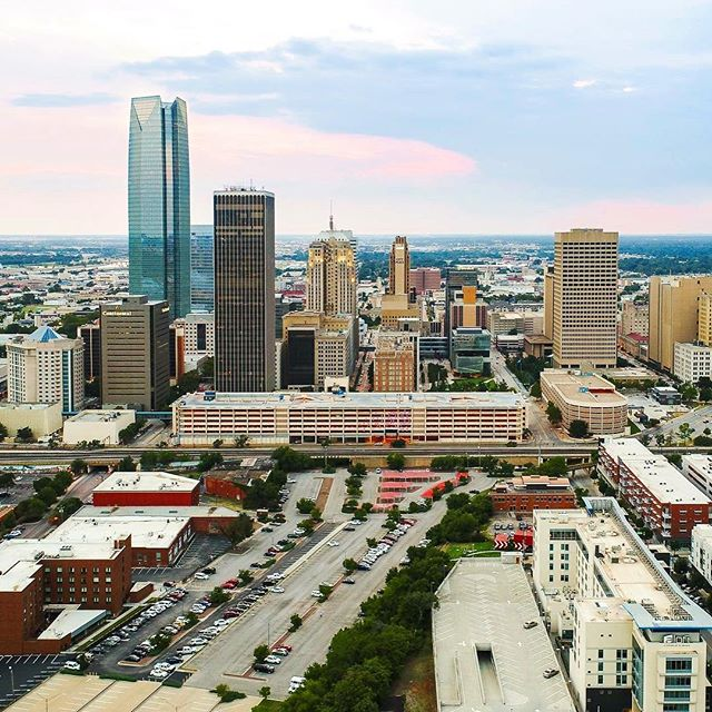 I need to take a moment to express thanks to Mark Strunk for going out of his way to help my business. He believes in me when the chips are down, cheers me on, and supports my dreams. He is also there to take sweet drone photos and video as needed like this one. Husband you are the best.  #okc #oklahoma #okcrealestate #drone #photography #aerial #photo #architecture #architecturephotography #downtown #sunset #city #urban #skyline #love #potd