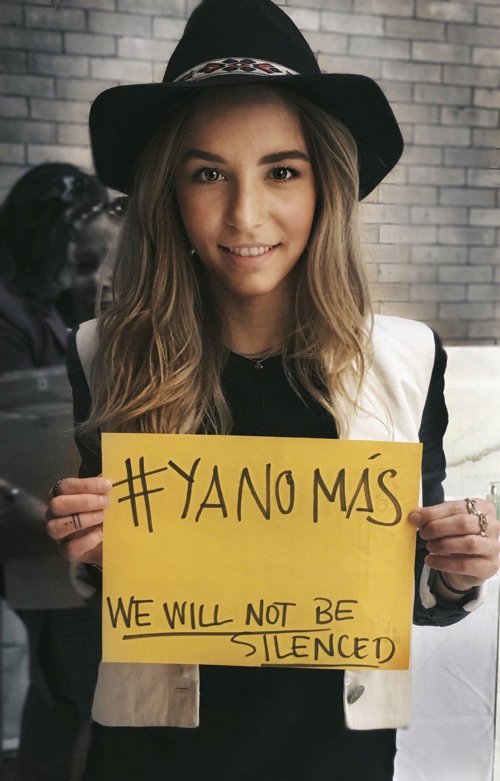Súmate a la campaña #YaNoMás subiendo tu foto en Instagram con el hashtag y demuestra tu solidaridad con las mujeres del mundo!